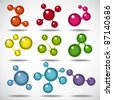 Set of the Molecules. - stock photo