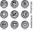 set of the nine icon for site - stock vector