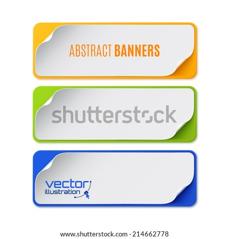 Set of three colorful banners. Vector illustration - stock vector
