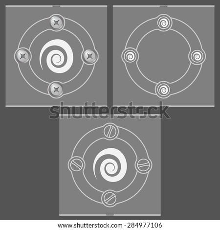 Set Three Flat Frames Spiral Stock Vector 284977106 - Shutterstock