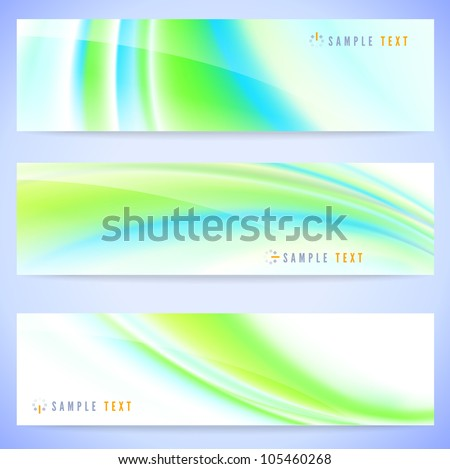 Set of three stylish abstract banners illustration - stock vector