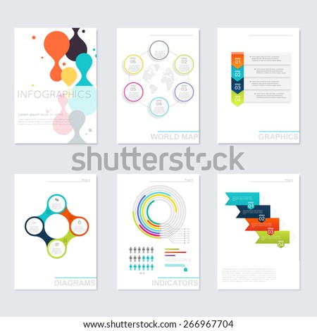 Set of Timeline Infographic Design Templates. Charts, Diagrams and other Vector Elements for Data and Statistics Presentation - stock vector