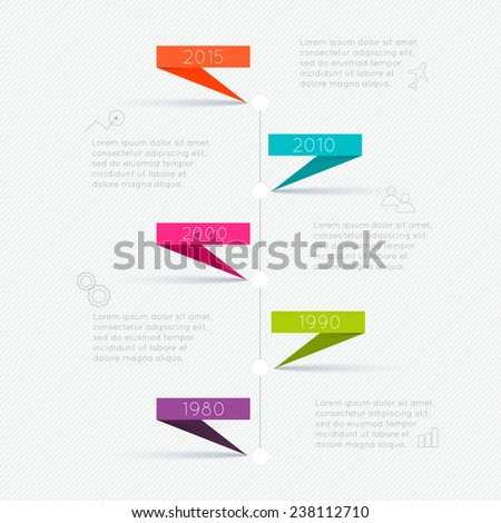 Set of Timeline Infographic Design Templates. Diagrams and Statistics Presentation - stock vector