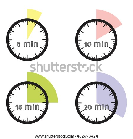 5 minutes timer stock vector 136345874 shutterstock