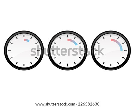 set a timer for five minutes