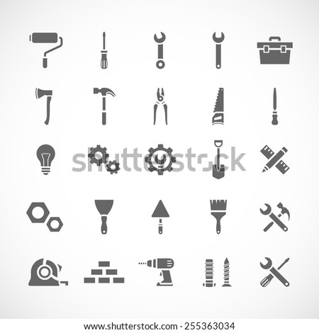 Set of 25 tool icons. Vector illustration eps8 - stock vector