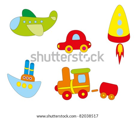 Set of toys - stock vector
