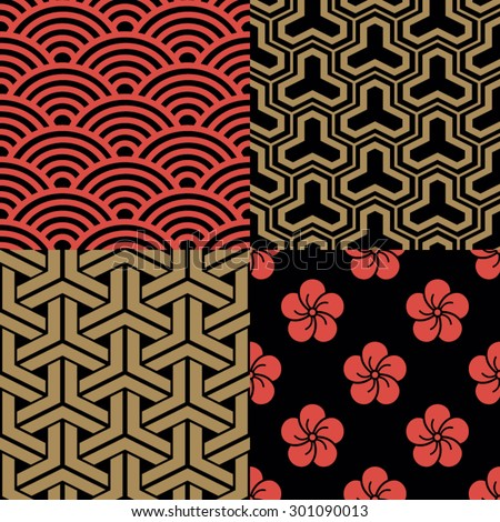 japanese pattern stock images, royalty-free images & vectors