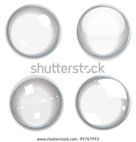 Set of transparent bubbles