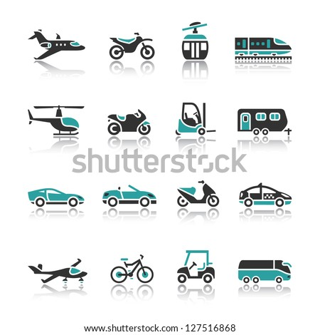 Set of transport icons - Two - stock vector