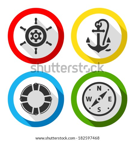 Set of travel flat color icons, vector illustrations - stock vector