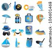 set of travel icons - part 1 - vector illustration - stock photo