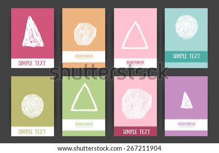 AlejikS Hand Drawn Design Cards Set On Shutterstock