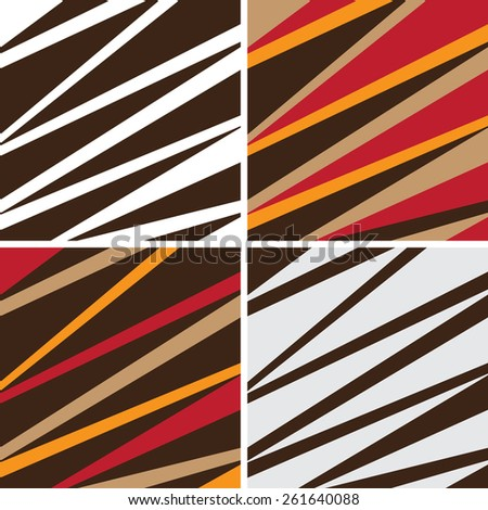 Set of triangular style abstract background. Illustration - stock vector