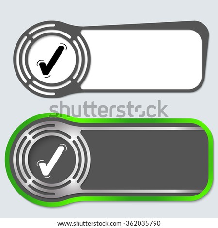 Set of two abstract buttons for your text and check box - stock vector