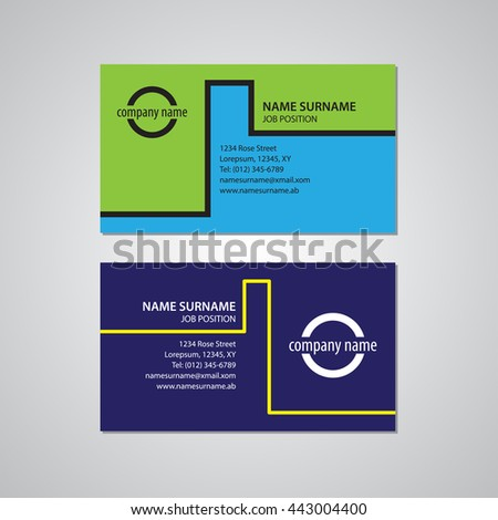 Set two business cards canada usa stock vector hd royalty free set of two business cards canada and usa standard format colourmoves