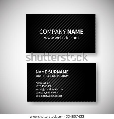 Set two business cards geometric design stock vector 334807433 set of two business cards geometric design template banner design template corporate style design colourmoves