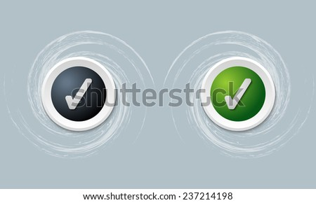 set of two icon and check box - stock vector