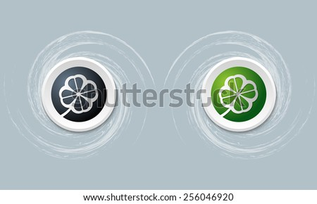 set of two icon and cloverleaf