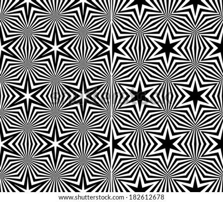 Set of Two Seamless Starry Patterns. Vector Illustration - stock vector