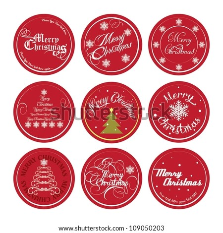 set of typographic Christmas design
