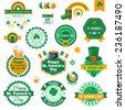 Set of Typographic Saint Patrick's Day Labels Design. Vector illustration.  - stock vector