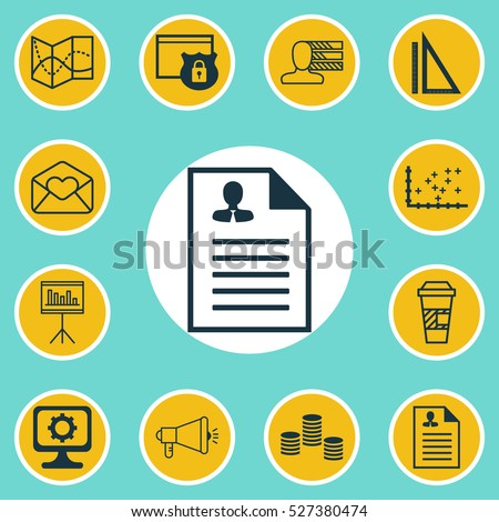 set of 12 universal editable icons can be used for web mobile and app - Network Diagram Icon