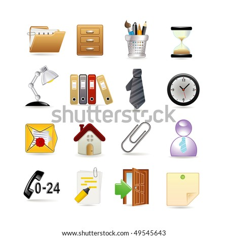 Set of universal web icons - stock vector