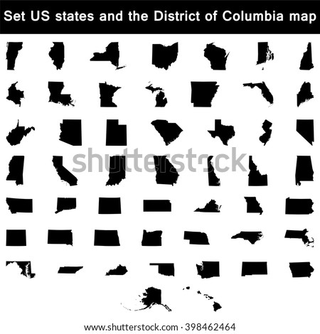 Map Us State Utah Stock Vector Shutterstock - Map us states