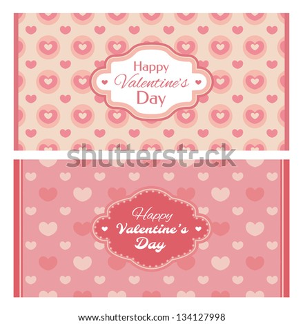 Set of valentine's day card