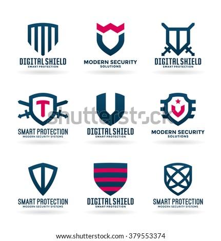 Set of various bird symbols and logo design elements (1) - stock vector