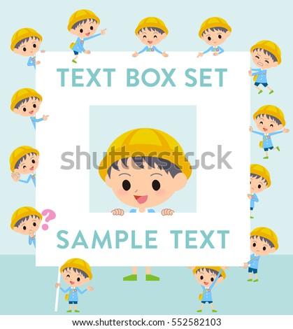 school text box clipart. set of various poses nursery school boy text box clipart g