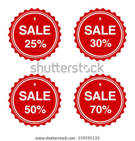 set various sale badges 25 30 stock vector royalty free 159595133