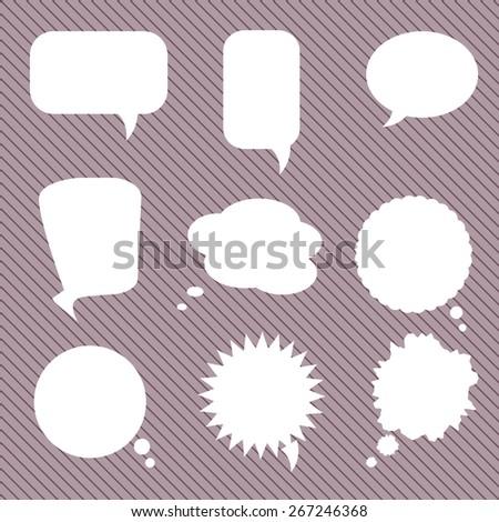 Set of Various Speech Bubbles, Vector, eps 10 - stock vector