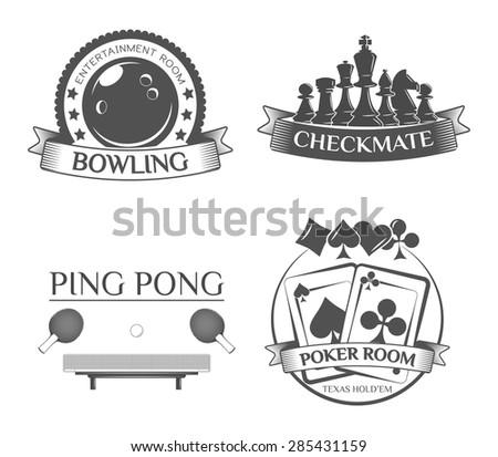 Set Various Sports Game Emblem Snd Stock Vector 285431159 Shutterstock