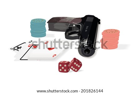 Set of various subjects from a casino subject