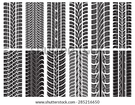 collection textures vector tire tracks tire stock vector 297430412 shutterstock. Black Bedroom Furniture Sets. Home Design Ideas