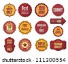 Set of vector badges and stickers - stock vector