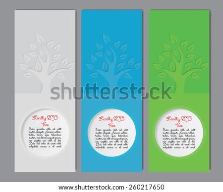 Set of vector Banner, Brochure Design Templates. Abstract environmental and natural design - stock vector