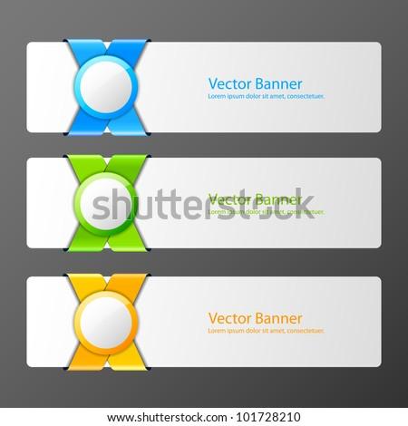 Set of vector banners - stock vector