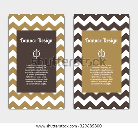 Set vector banners template nautical marine stock vector 329685800 set of vector banners template with nautical marine style design invitation card celebration pronofoot35fo Images