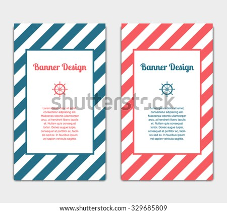Set Vector Banners Template Nautical Marine Stock Vector 329685809 ...