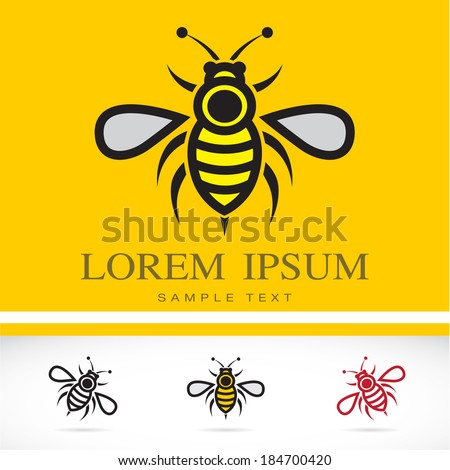 Set of vector bee icons - Illustrations Vectors - stock vector