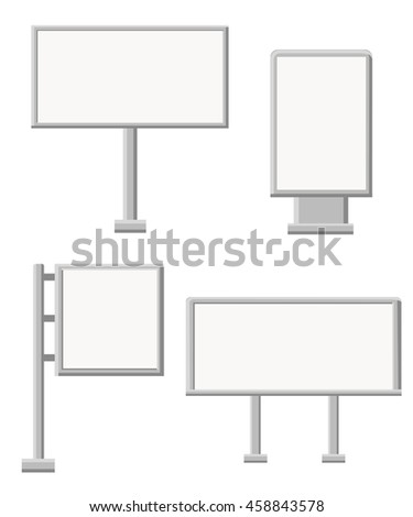Set of vector billboards in different sizes.