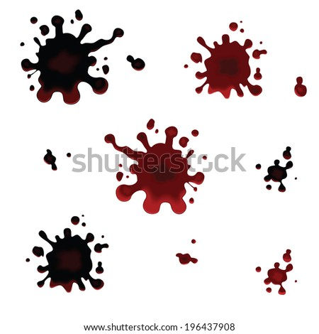 Set of vector blots. Blots. Vector illustration  - stock vector