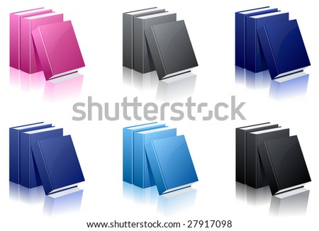 set of vector book icons - stock vector
