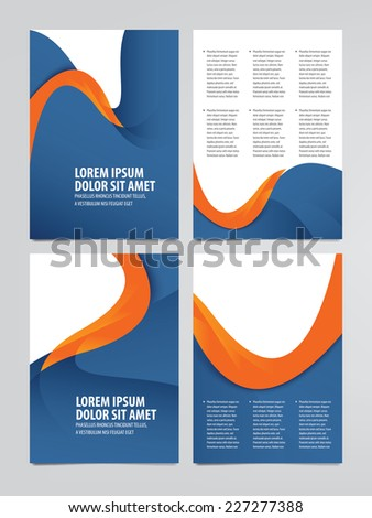set of vector business brochure, flyer templates - stock vector