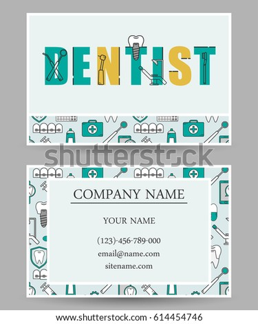 Set vector business card templates dental stock vector hd royalty set of vector business card templates dental clinic dental modern business card accmission Choice Image