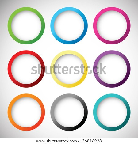 Set of vector buttons - stock vector