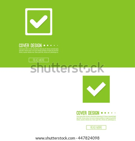 Set of vector buttons with check marks or ticks. checkbox. Web and mobile applications. acceptance positive passed voting. Green. template, layout - stock vector